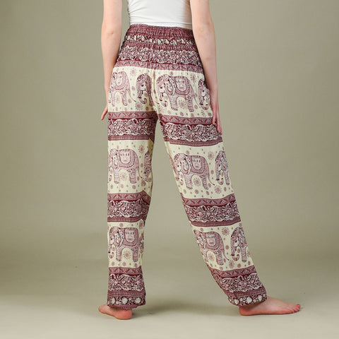 Caira Cherry Harem Pants Rear View