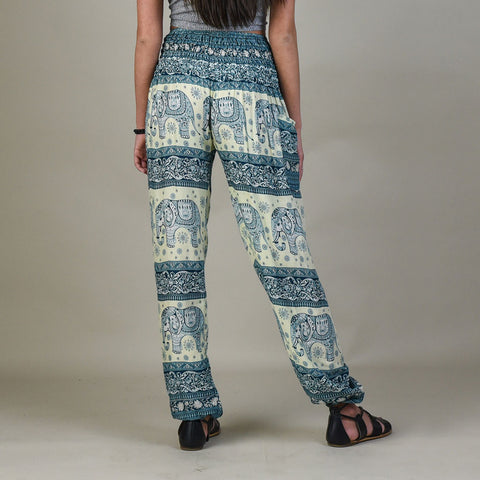 Caira Peacock Harem Pants Rear View