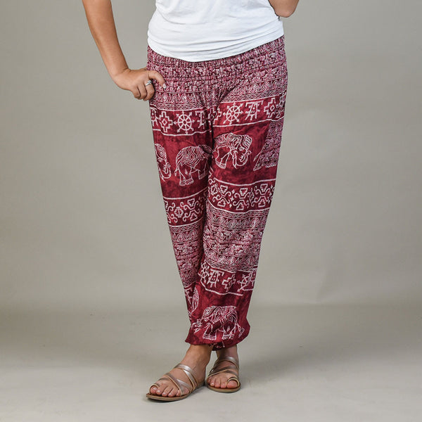 Teddy Cherry Harem Pants Front View