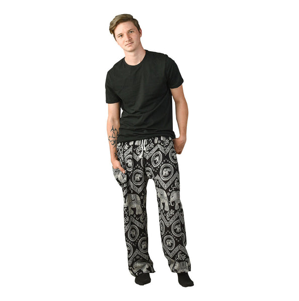 Tommy Black Unisex Pants Pants on Model
