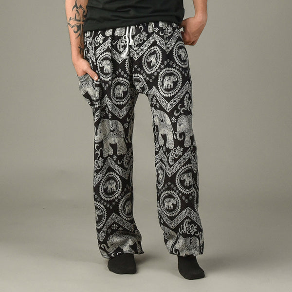 Tommy Black Unisex Pants Pants Front View