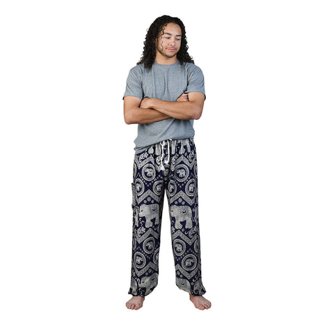 Tommy Blueberry Unisex Pants Pants on Model