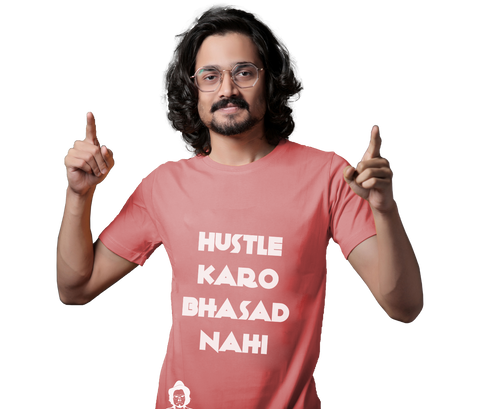 The Hustle Bhasad Tee - Pink