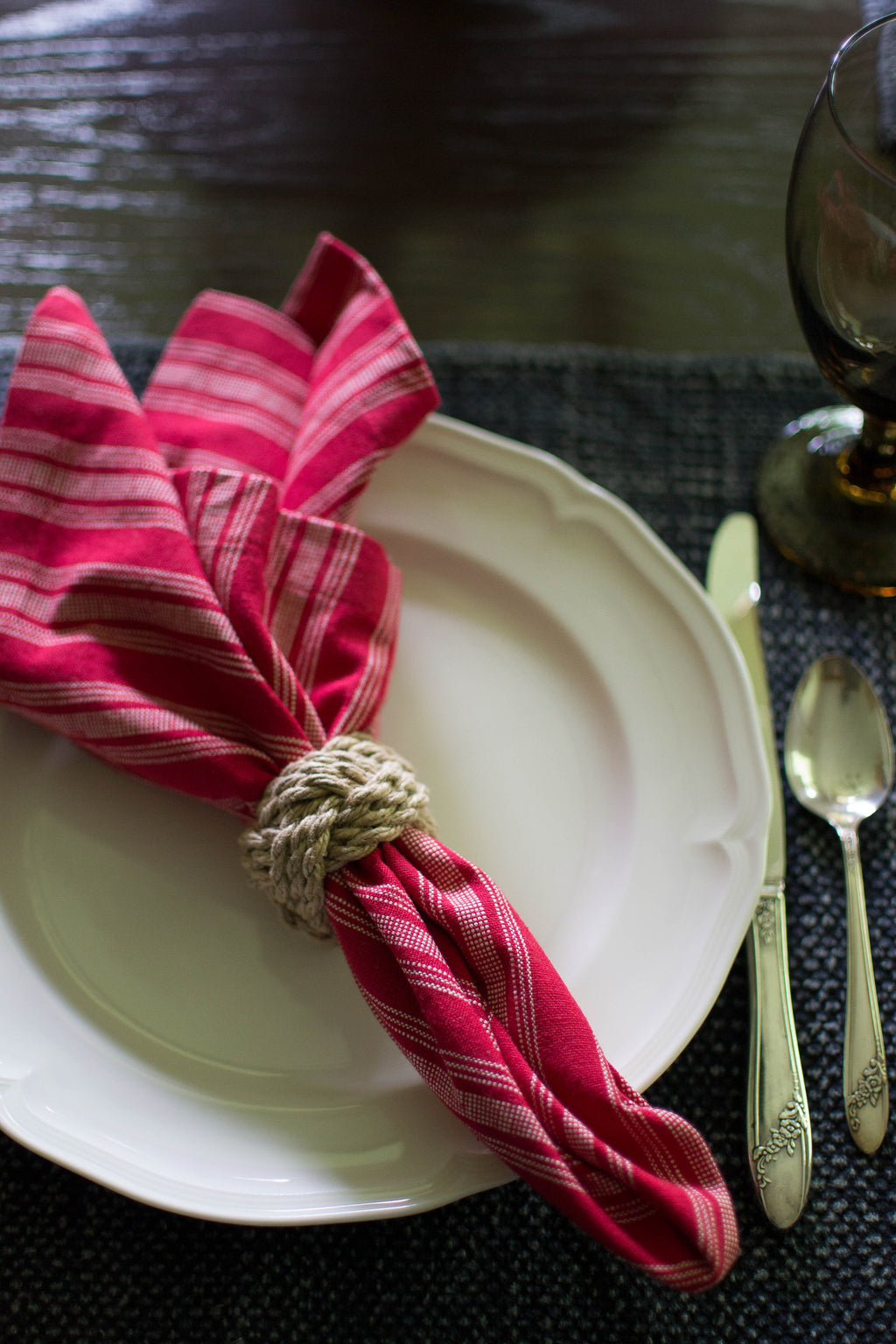 jute rope napkin ring