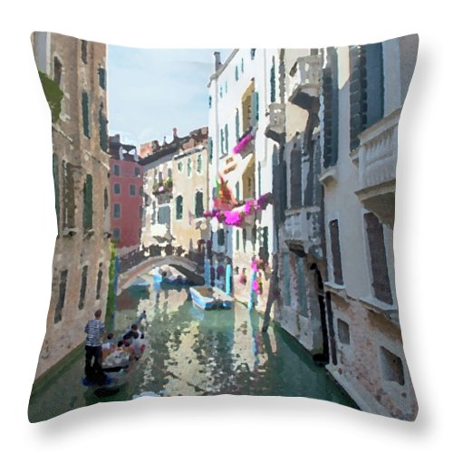 Venice In The Afternoon - Throw Pillow