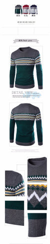 New Arrival Pullover Men Round Neck Casual Clothing Skinny Style Men Sweater Cotton Slim Fit  Pull Home Sweater Men