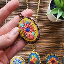 Hand Embroidered Jewelry Collection: Autumn Flowers