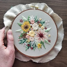 Floral Harvest Embroidery Kit