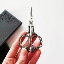Silver and Black Embroidery Scissor Gift Set