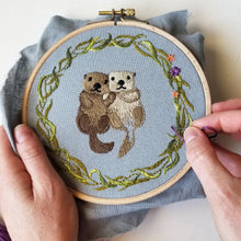Otterly Adorable Embroidery Pattern (PDF)
