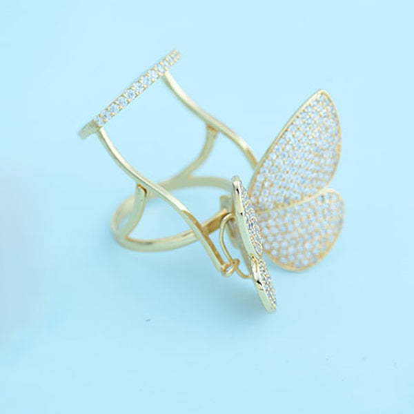 Luxury Unique Butterfly Rings (Universal size)