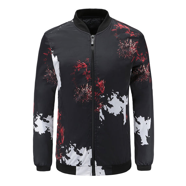 Stand Collar Casual Fashion Men's Jacket