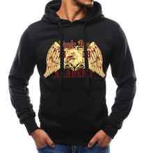 Animal Printing Hooded Cotton Blends Men's Hoodies
