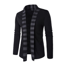 Buttonless Knitted Cardigan Colour Stripe Men's Sweater