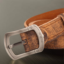 Pin Buckle Vintage Letter Men's Belts