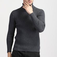 Pure Color Long Sleeve Stand Collar Men's Sweater