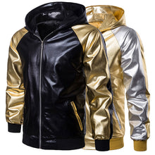Hit Color Hooded Sporty Patchwork Men's Jackets Coats
