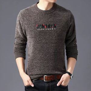 Letter Long Sleeve Pullover Men's Sweater