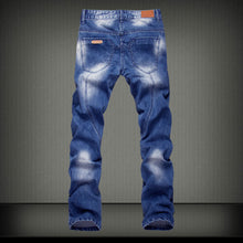 Worn Casual Cotton Long Pants Pocket Men's Jeans