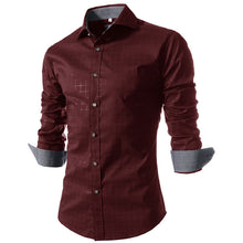 Plaid Long Sleeve Single-Breasted Men's Shirt