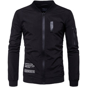 Pure Collar Printing Elasticity Men's Jacket
