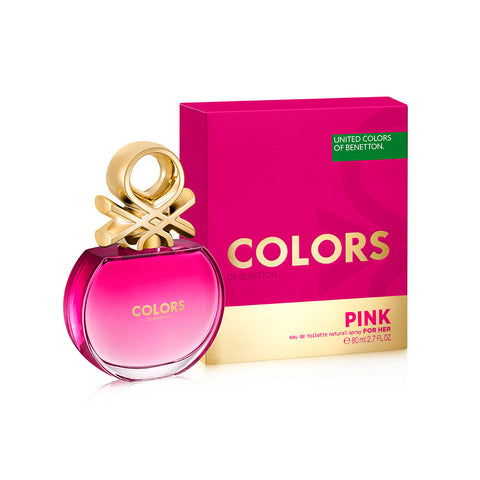 Buy original United Colors of Benetton Colors Pink EDT For Her 80ml only at Perfume24x7.com