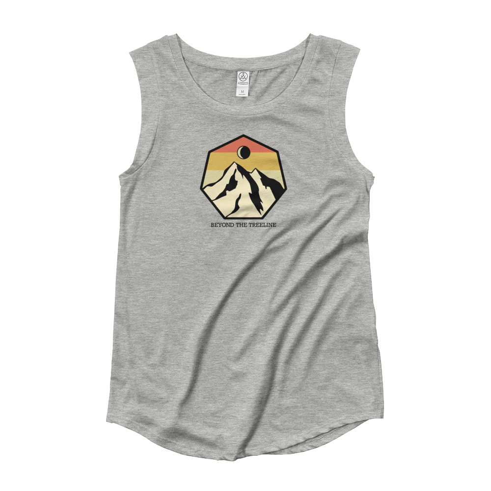Mountain Crest R Ladies Sleeveless - Beyond The Treeline Clothing - Hiking, Mountains, Camping, Outdoors, Shirts, Hoodie