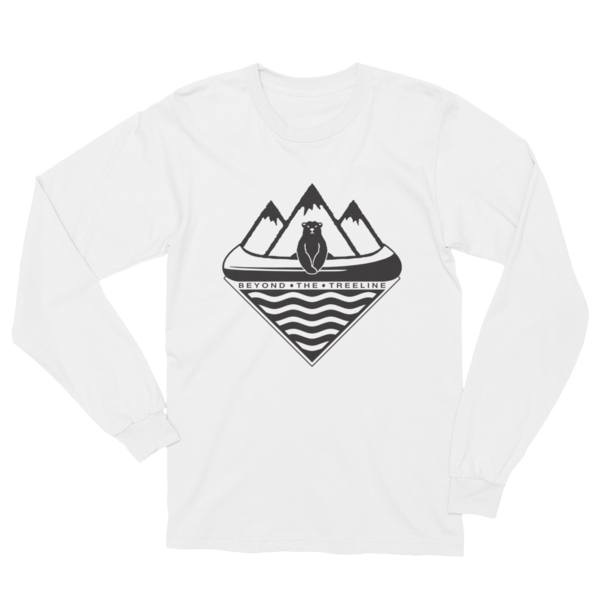 Canoe Bear Longsleeve - Beyond The Treeline Clothing - Hiking, Mountains, Camping, Outdoors, Shirts, Hoodie