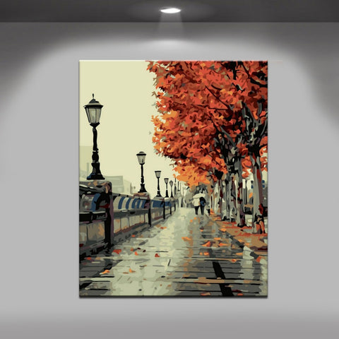 PaintGo™ Autumn Scene - DIY Paint-By-Number Kit