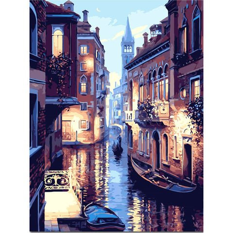 PaintGo™ Romantic Venice - DIY Paint-By-Number Kit