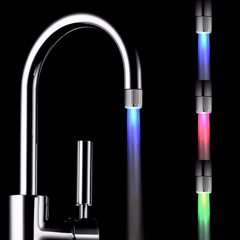 LED Changing Colors Water Stream Faucet