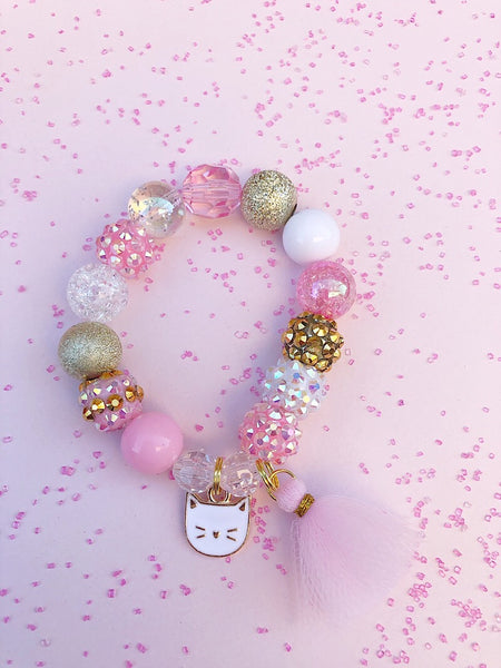 Kitty Charm Bracelet - Customizable