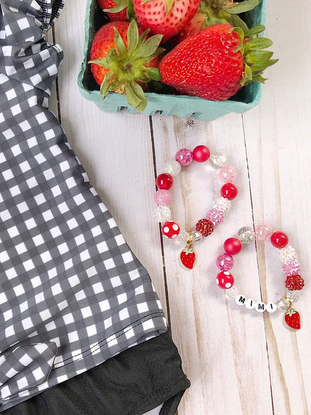 Strawberry Fields Charm Bracelet- Customizable