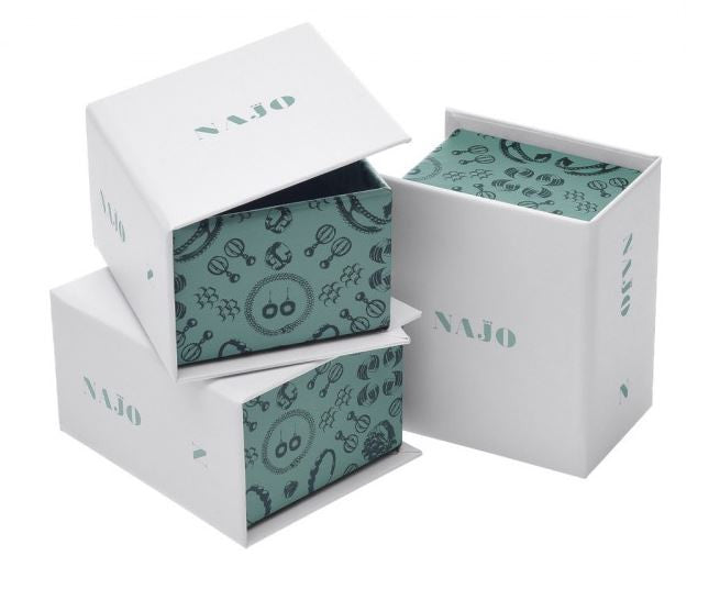 NAJO LION BUTTON RAPTURE CHARM Packaging