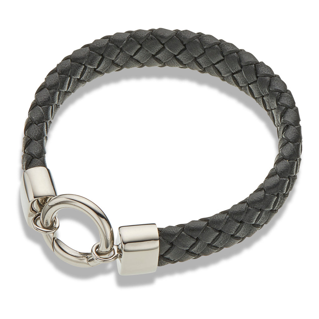 PALAS BLACK LEATHER BRACELET