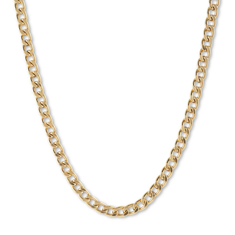 VON TRESKOW HEAVY CURB CHAIN NECKLACE