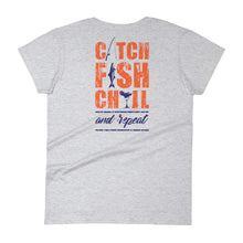 CATCH FISH & CHILL WOMENS AND REPEAT TEE.
