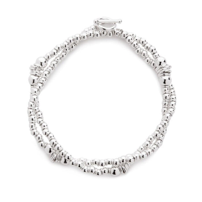 Wishbone Bracelet in Silver