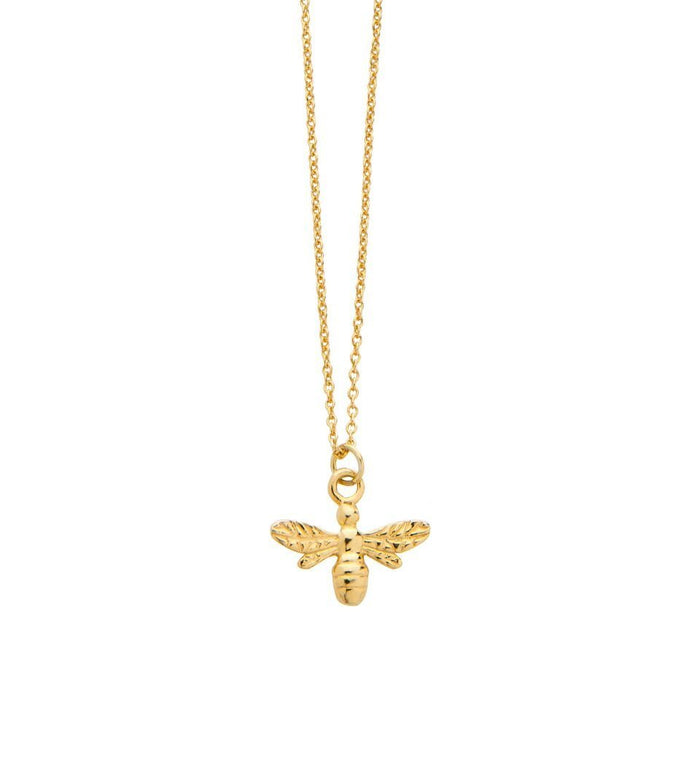 Bee Pendant Necklace in Gold