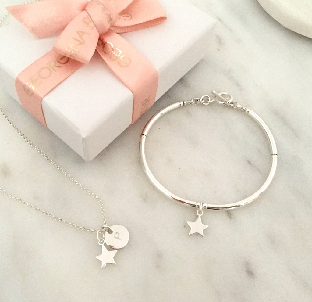 Star Charm Simplicity Bracelet in Sterling Silver