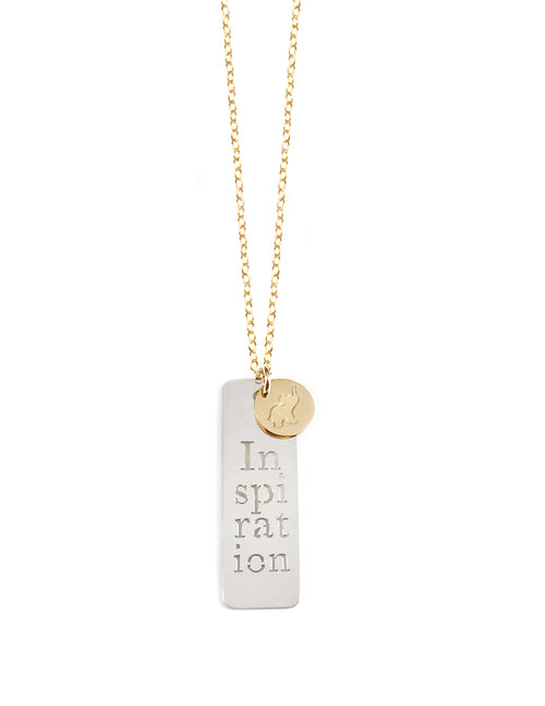 Inspiration Tag Necklace