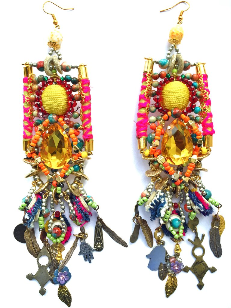 PENI BEADED CRYSTAL EARRINGS