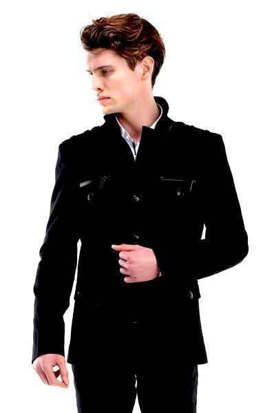 Epaulette Shoulder Jacket - Black