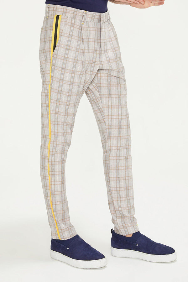 Patterned Slim Fit Casual Trouser - PINK