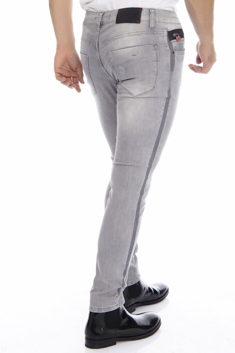Tuxedo stripe washed skinny Jeans - more colors-Jeans-Ron Tomson-BLACK-29-Ron Tomson