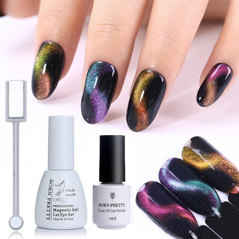 My Envy Shop BORN PRETTY 3D Chameleon Cat Eye Magnetic Gel Soak Off UV Gel Nail Art