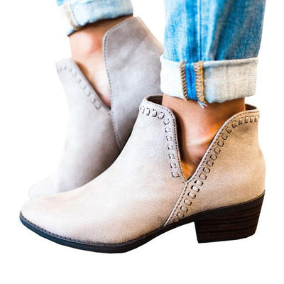 My Envy Shop Gray / 6.5 Vintage Boho Ankle Boots