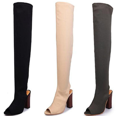 My Envy Shop Over The Knee Summer Boot High Heel