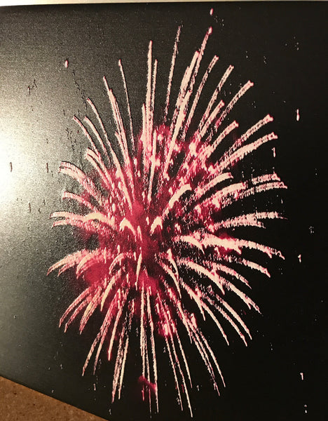 Texture It! Fireworks Prints on Ceramic Tile or Aluminum