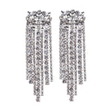 Crystal Chandelier Drop Earrings - Silver or Gold